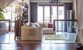 精美日式复式客厅装修设计效果图