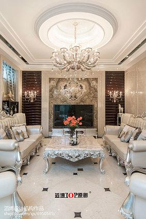 135平别墅客厅新古典装修欣赏图片
