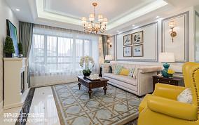 2021精选91平方三居客厅美式效果图