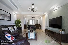 120平美式四居客厅装修欣赏图片