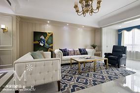 2020面积105平美式三居客厅欣赏图