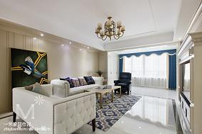热门大小96平美式三居客厅实景图