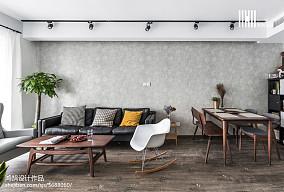 精美面积90平北欧二居客厅装修设