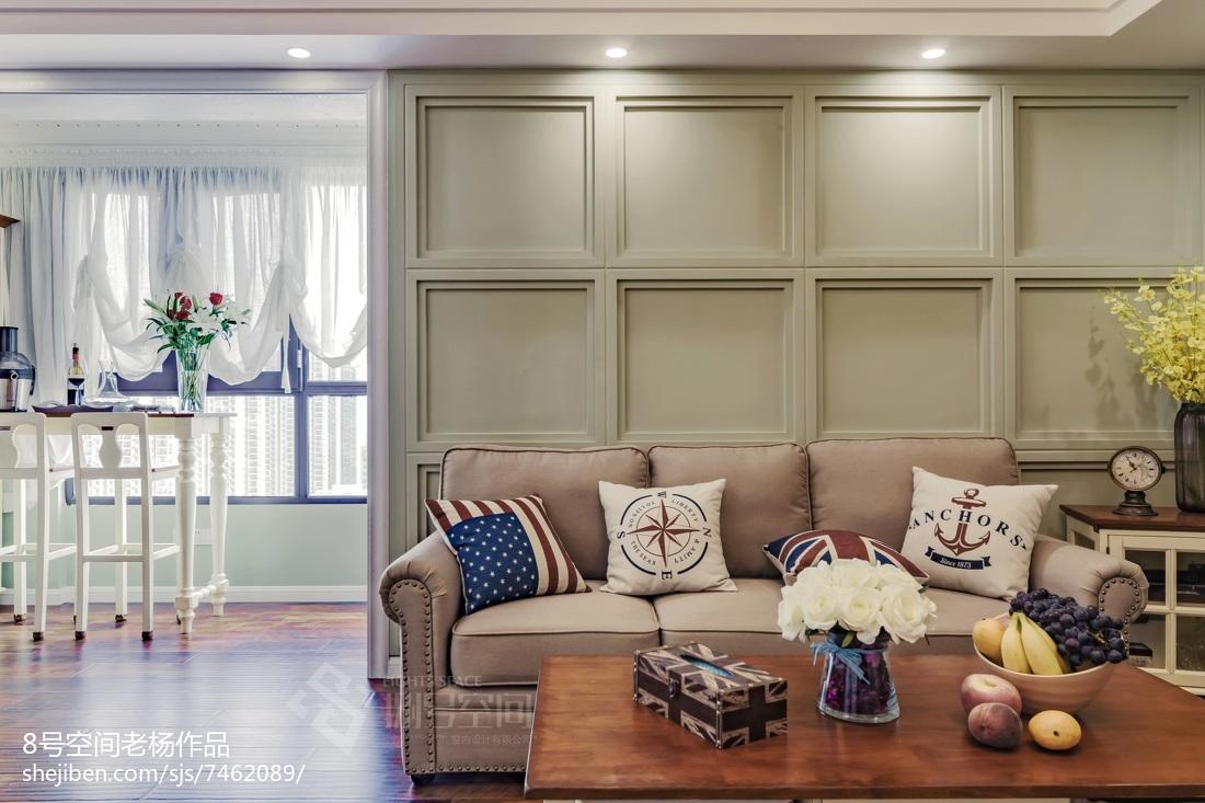2021精选102平方三居客厅美式装修实景图展示