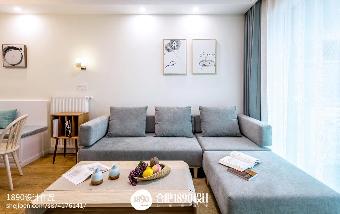 2021面积82平日式二居客厅装修实景图展示