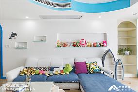 2021精选104平米三居客厅地中海实