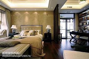热门121平米中式别墅卧室装修设计