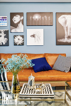2020109平米三居客厅美式效果图片