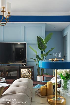 丽水家庭装修公司2020精选106平米三居客厅美式装修效果图片大全