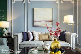 108平美式风格三居客厅实景图
