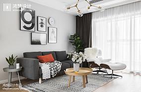 104平米三居客厅装修设计效果图