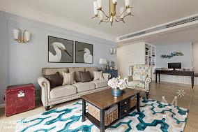 精选90平米三居客厅美式效果图片