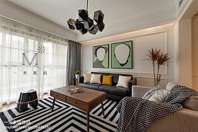 106平三居客厅装修设计效果图