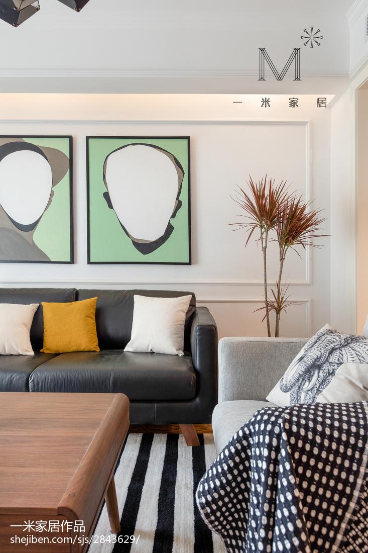 2021面积97平北欧三居客厅装修欣赏图片大全展示
