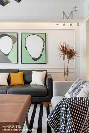 成都公司装修排名靠前的2021面积97平北欧三居客厅装修欣赏图片大全