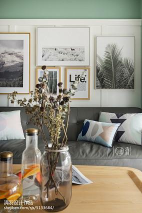 夏季潮流混搭三居81-100m²客厅装饰