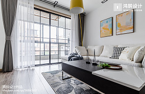 202075平米二居客厅北欧实景图片欣