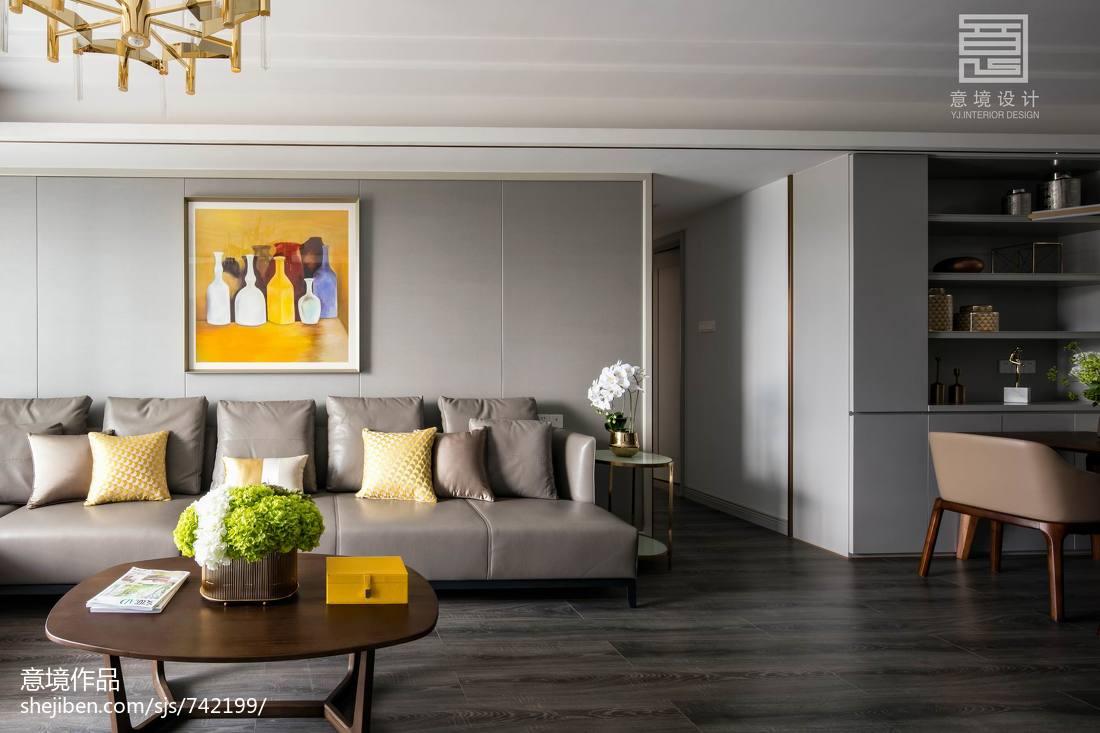 2021精选面积110平别墅客厅简约实景图展示