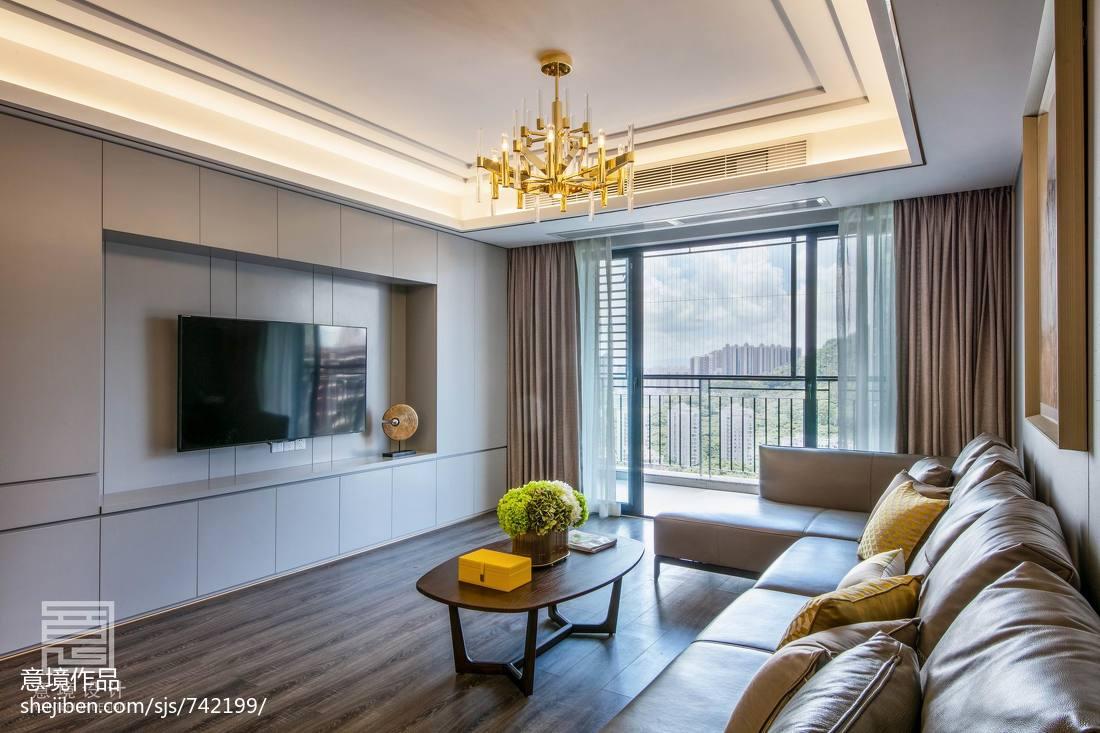 134平别墅客厅装修设计效果图展示