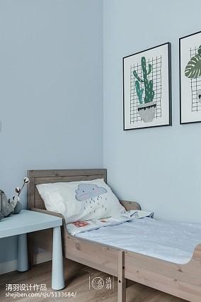 温馨78平北欧三居卫生间设计图