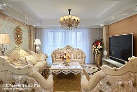 98m²欧式客厅装修设计效果图欣赏