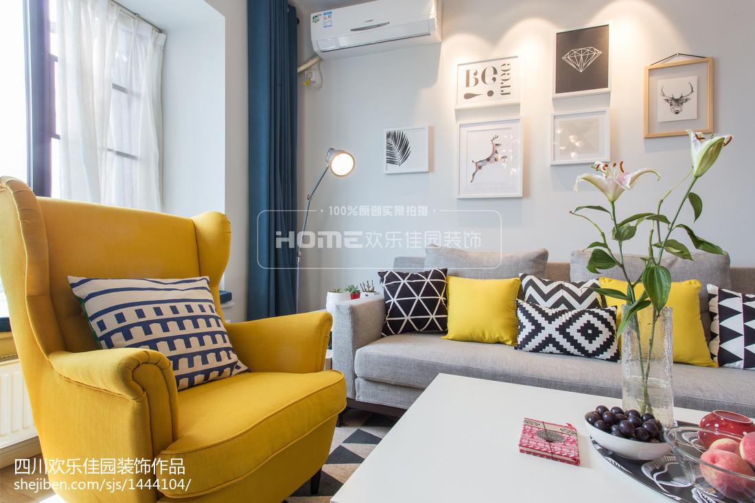 2021大小100平北欧三居客厅装修欣赏图片展示