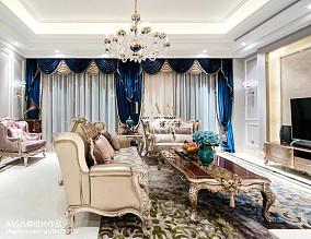 2021面积135平别墅客厅欧式装饰图