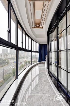 热门面积94平混搭三居阳台装修效