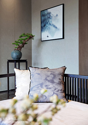 138平别墅客厅中式装饰图