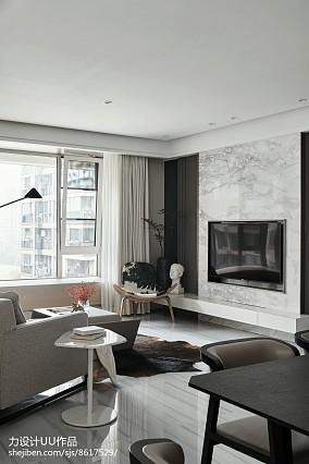 141平简约四居客厅效果图片