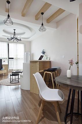 75平小户型客厅北欧实景图片欣赏