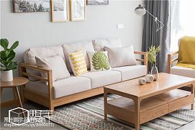 2021面积79平日式二居客厅实景图片