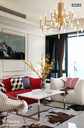 104平米简约风格三居客厅装修实景