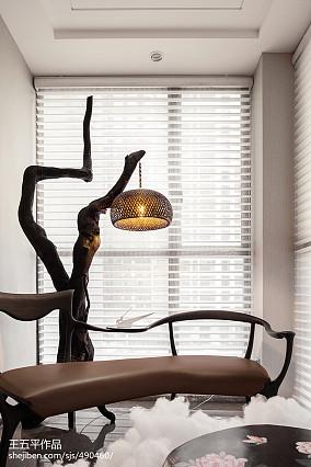 99.5平热门中式客厅装修效果图片