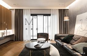 武汉圣都装饰怎么样?武汉圣都推荐的华丽121平北欧三居客厅装修图片