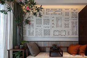 76m²中式客厅装修设计效果图