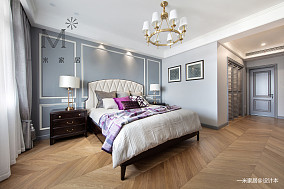 质朴98平美式三居卧室装饰美图