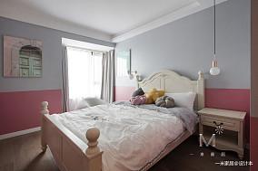 轻奢54平现代二居卧室效果图