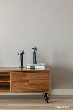 质朴106平欧式三居客厅实景图片