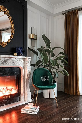 简洁36平法式小户型客厅设计案例