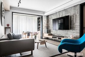 中式现代三居81-100m²客厅效果图