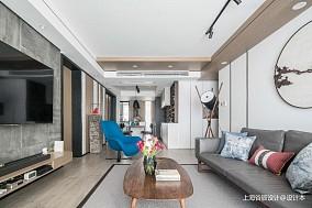 中式现代三居81-100m²客厅装饰图