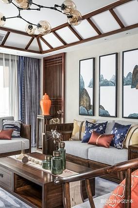 中式现代四居及以上151-200m²客厅