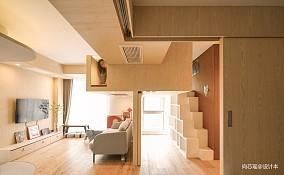木两居北京日式二居60m²以下客厅