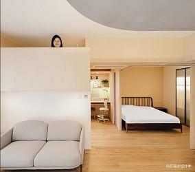 北京木两居日式二居60m²以下客厅
