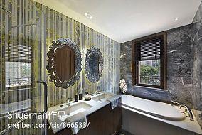 精美新古典三居卫生间装修实景图