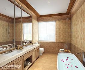 热门127平米欧式别墅卫生间装修设