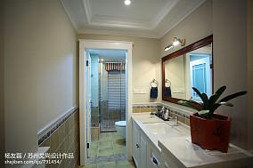 精美面积141平美式四居卫生间装修
