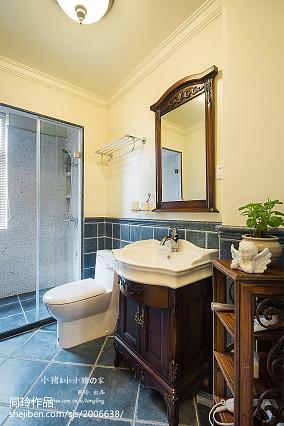 成都家庭装修公司2021精选美式三居卫生间装修效果图片大全