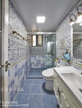 2020田园三居卫生间装饰图片欣赏